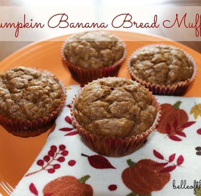 Pumpkin Banana Bread Muffins