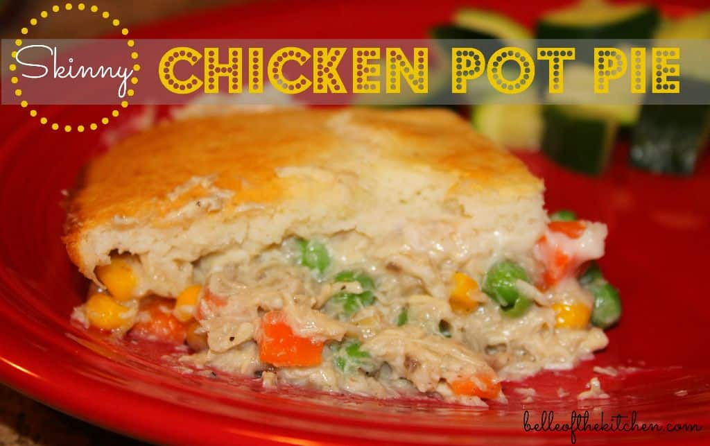 Skinny Chicken Pot Pie - Belle of the Kitchen
