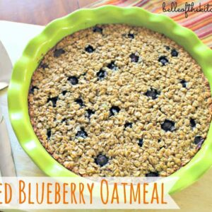 a dish full of baked oatmeal
