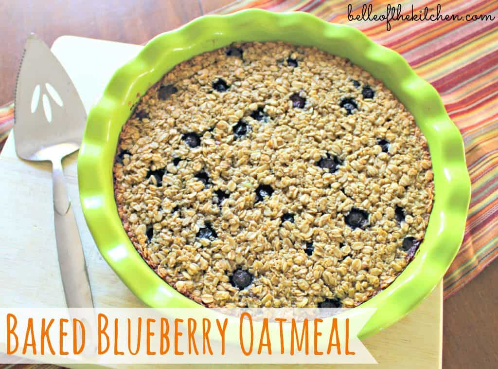 Baked Blueberry Oatmeal {Belle of the Kitchen}