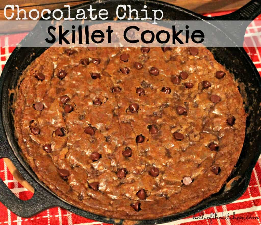 Chocolate Chip Skillet Cookie from Belle of the Kitchen