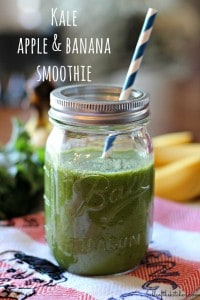 Kale Apple and Banana Smoothie | Belle of the Kitchen