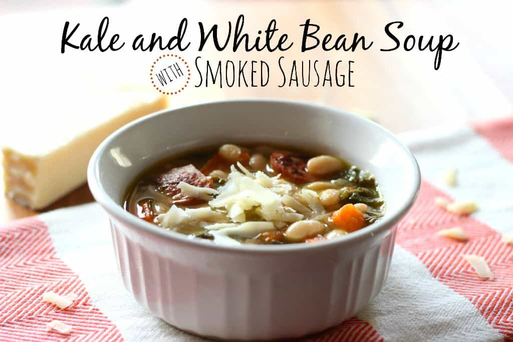Kale and White Bean Soup with Smoked Sausage - Belle of the Kitchen