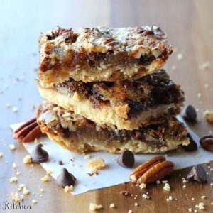 Chocolate Pecan Pie Bars | Belle of the Kitchen