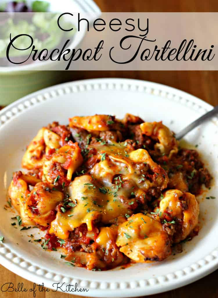 Cheesy Crockpot Tortellini @ Belle of the Kitchen
