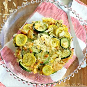 A bowl of sliced zucchini and squash