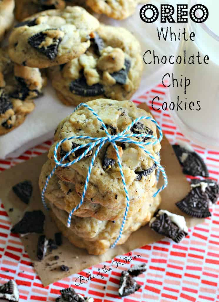 Belle of the Kitchen   Oreo White Chocolate Chip Cookies