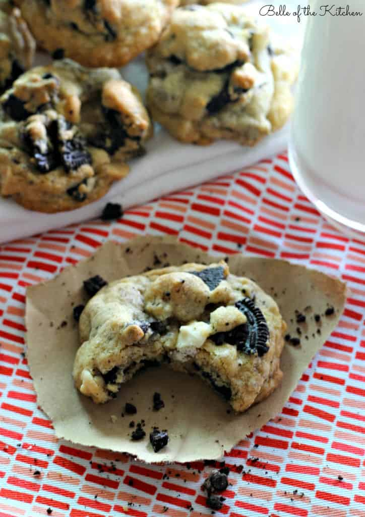 Oreo White Chocolate Chip Cookies Recipe Belle Of The Kitchen