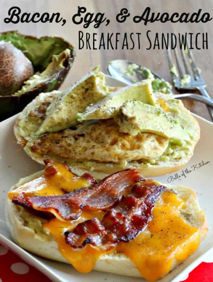 Bacon, Egg, and Avocado Breakfast Sandwich