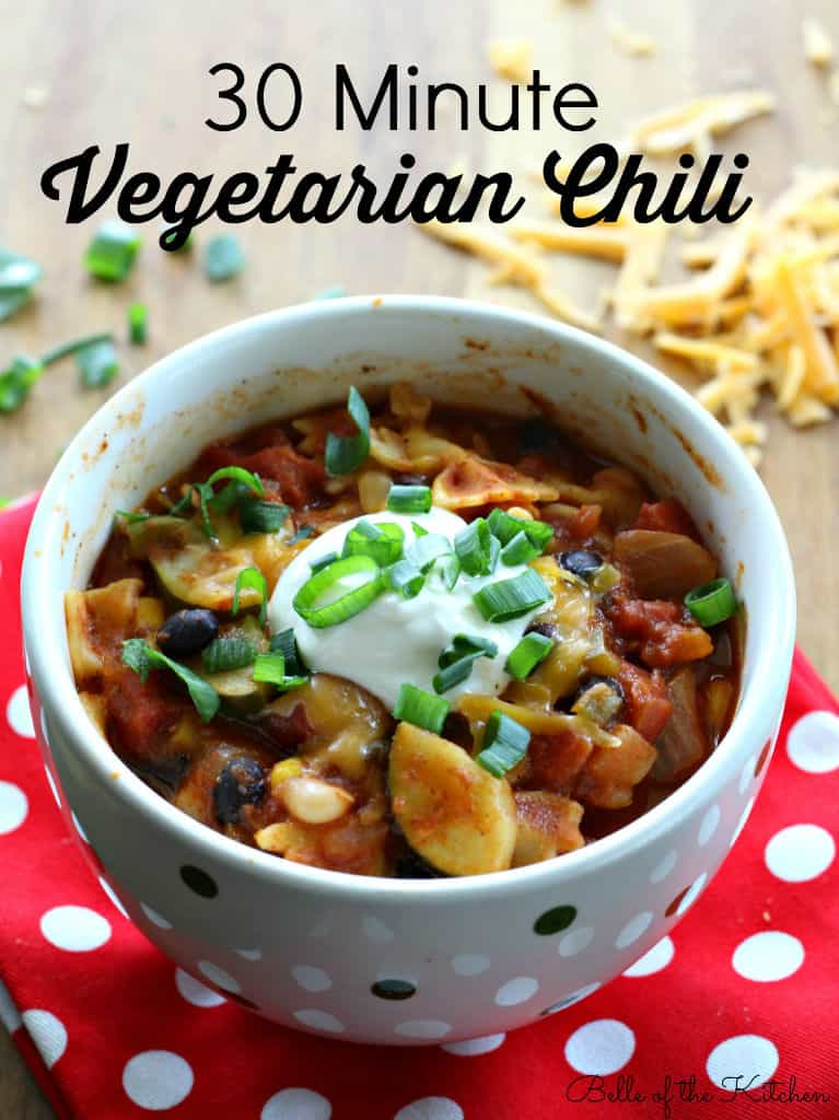 Belle of the Kitchen | 30 Minute Vegetarian Chili