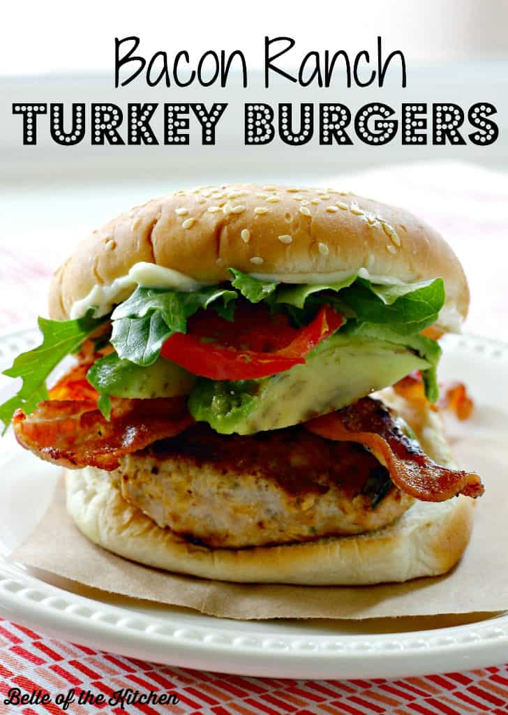 These Bacon Ranch Turkey Burgers are a lighter choice, but full of flavor! Top with your favorite burger toppings and you have a low cal and delicious meal!