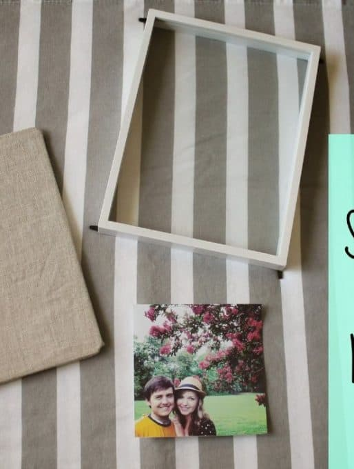 DIY Shadow Box Frame Makeover: Guest Post from Daniela @ Put A Bird On It