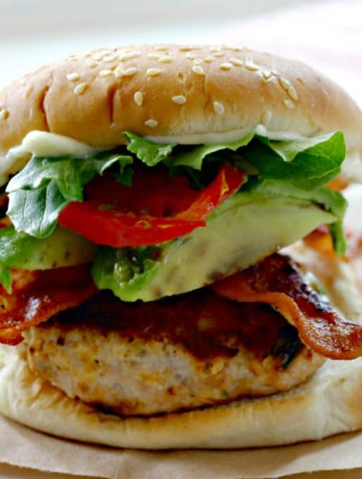 Bacon Ranch Turkey Burgers Recipe