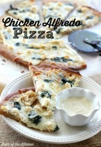 Belle of the Kitchen | Chicken Alfredo Pizza