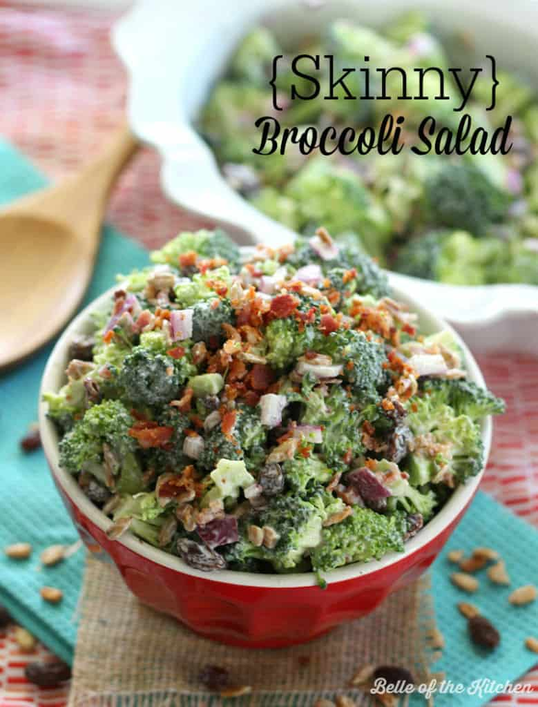 Skinny Broccoli Salad | Belle of the Kitchen