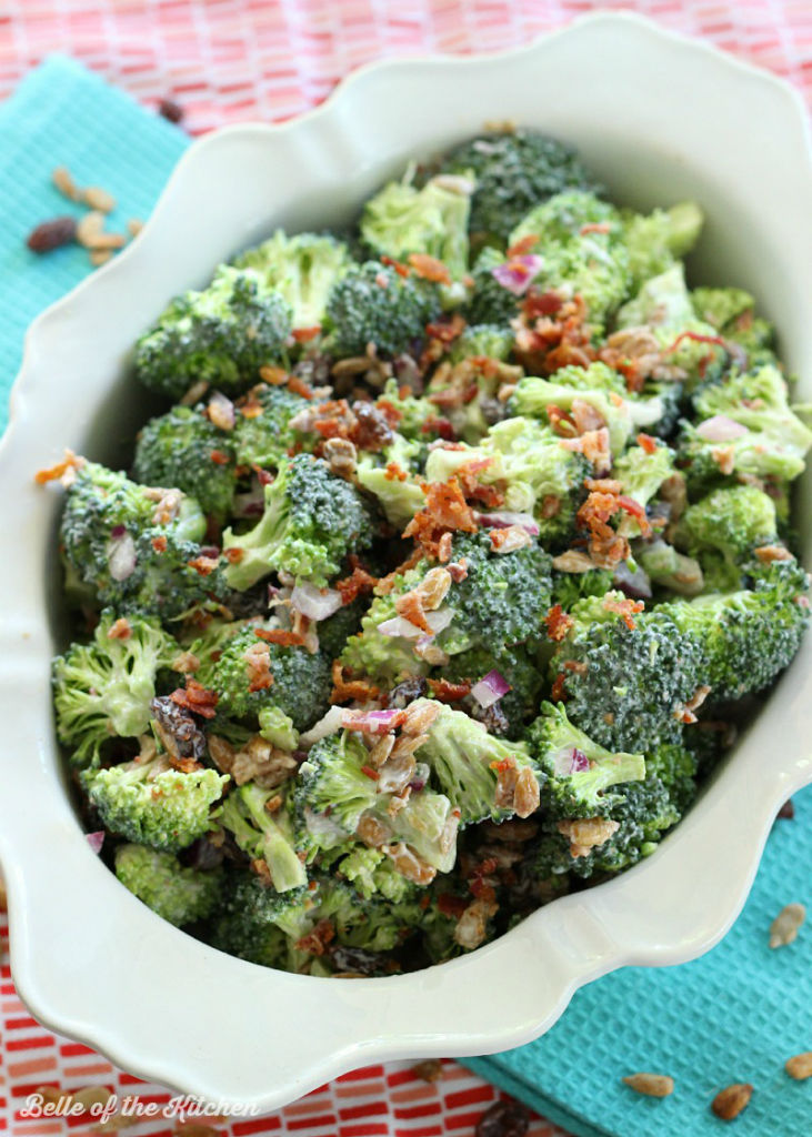 Skinny Broccoli Salad Belle Of The Kitchen