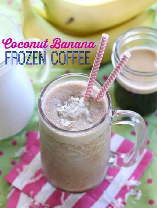 Coconut Banana Frozen Coffee Recipe