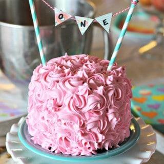 1st Birthday Smash Cake Tutorial Simple Vanilla Recipe