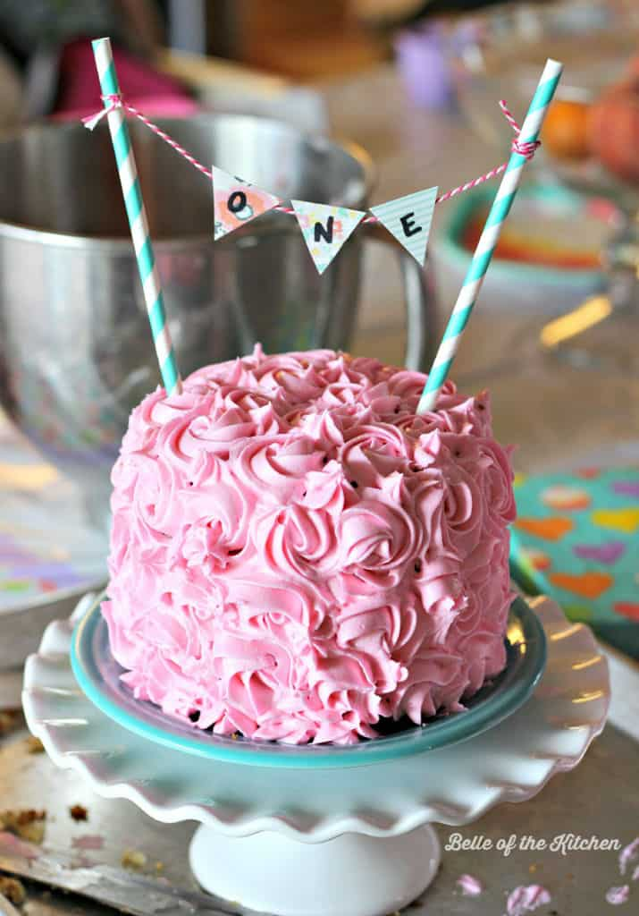 1st Birthday Smash Cake Tutorial Simple Vanilla Cake