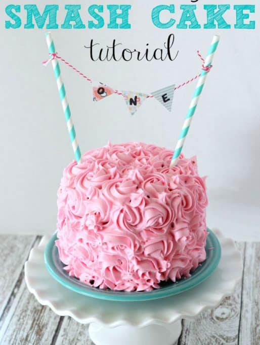 1st Birthday Smash Cake Tutorial + Simple Vanilla Cake recipe