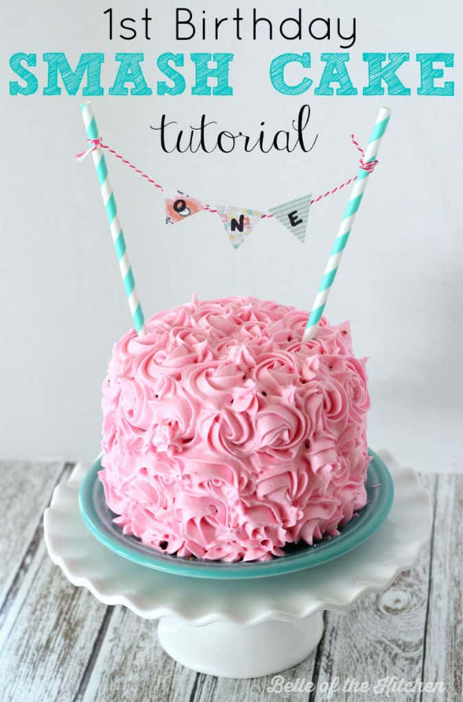 1st Birthday Smash Cake Tutorial + Simple Vanilla Cake