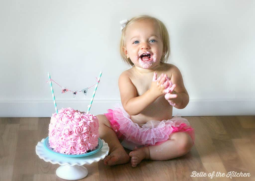 1st Birthday Smash Cake Tutorial Simple Vanilla Cake Recipe