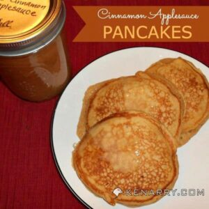 Cinnamon Applesauce Pancakes from Kenarry.com