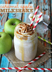 Caramel Apple Milkshake | Belle of the Kitchen