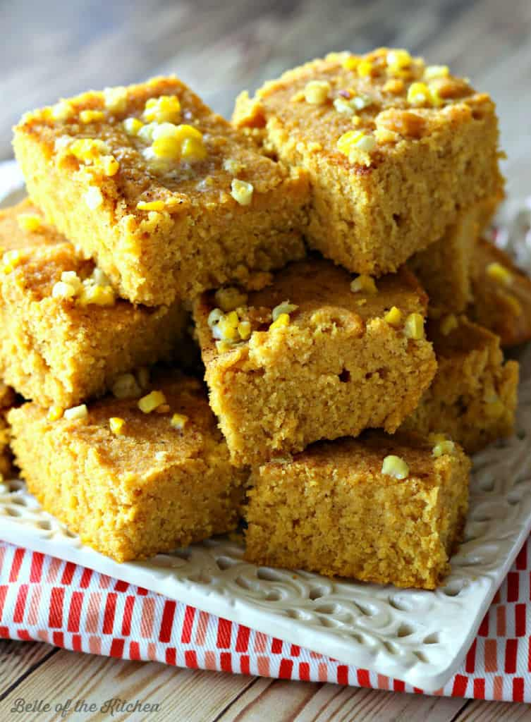 This Pumpkin Cornbread is a delicious mashup of pumpkin and cornbread that is also #glutenfree #vegan #sugarfree and #dairyfree!