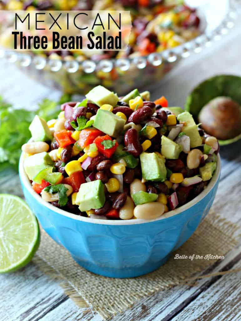 Mexican Three Bean Salad is chock full of veggies, protein-rich beans ...