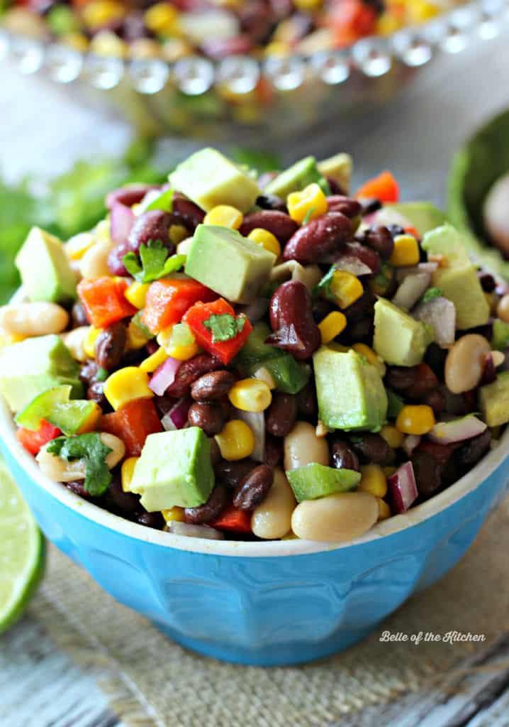 Mexican Three Bean Salad is chock full of veggies, protein-rich beans ...