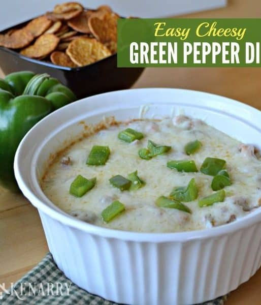 Easy Cheesy Green Pepper Dip