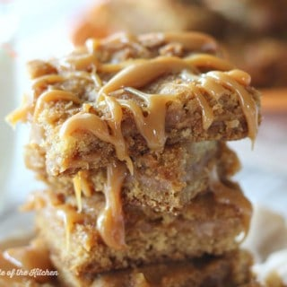 These Dulce de Leche Blondies are perfectly chewy and filled with a gooey caramel center. You might want to make a double batch, because these babies go fast!
