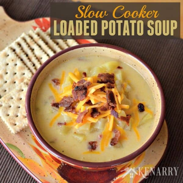 Slow Cooker Potato Soup - a creamy comfort food loaded with ham, bacon ...