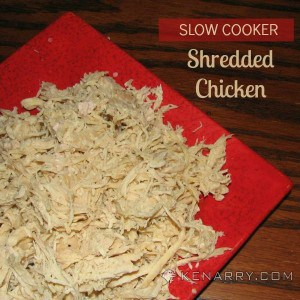 Easy Shredded Chicken in a Slow Cooker - Kenarry.com
