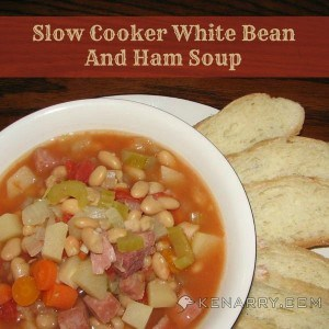 What's better on a cold day than hot soup? This recipe for Slow Cooker White Bean and Ham Soup will hit the spot after it's been simmering all day.