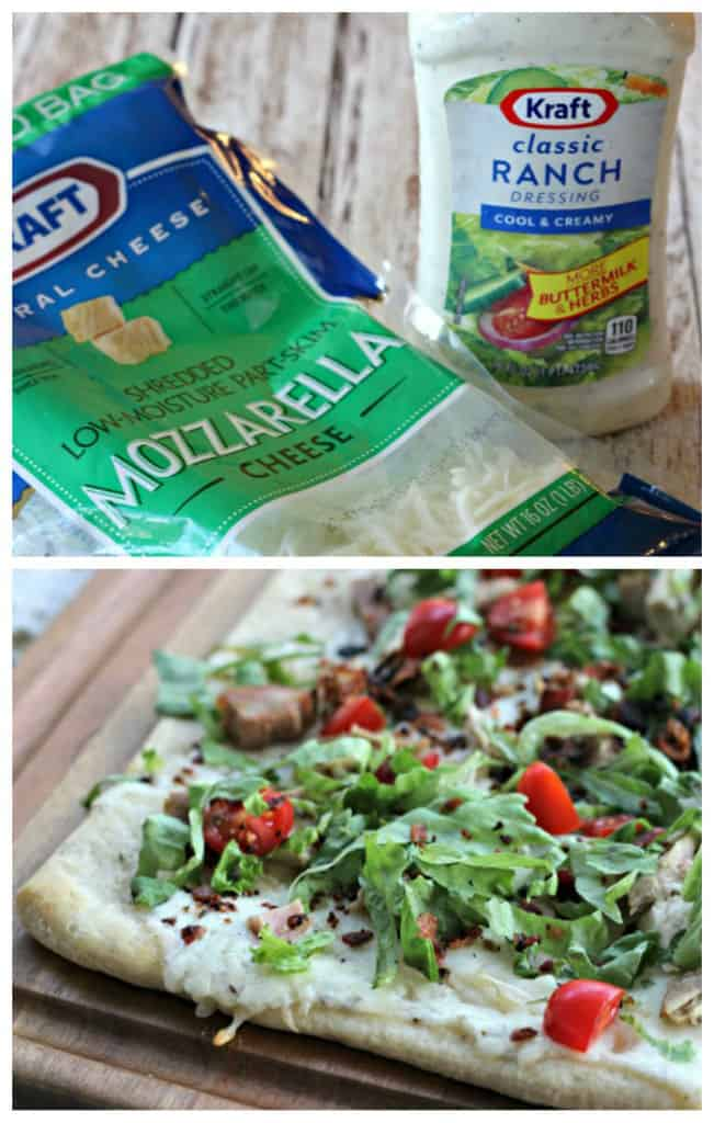 This Turkey Ranch BLT Pizza is the perfect way to use up leftover turkey! It's ready in under 30 minutes and is an easy meal for the busy holiday season.