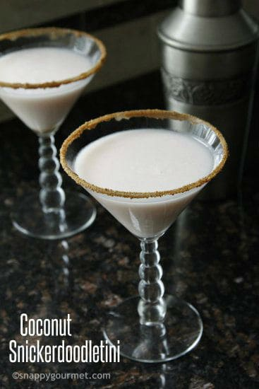 Coconut Snickerdoodletini Cocktail