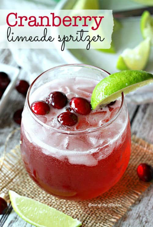 Cranberry Limeade Spritzer with 7UP