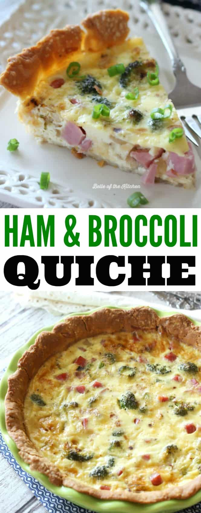This Ham and Broccoli Quiche with Gouda is the perfect warm breakfast during the holiday season. Made with creamy and delicious gouda cheese, this is a breakfast worth waking up for!