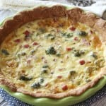 Ham and Broccoli Quiche with Gouda
