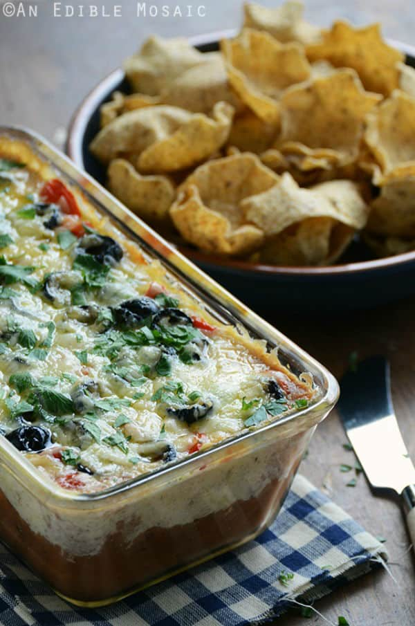 Cheesy Warm Bean Dip