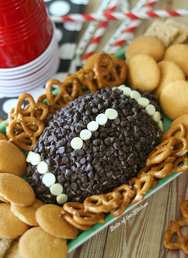 Game Day Chocolate Chip Cheesecake Ball