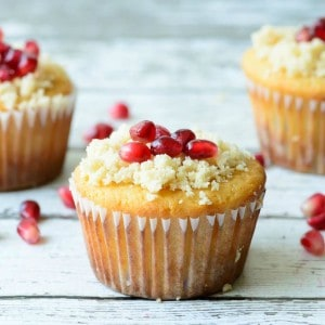 Orange Pomegranate Muffins from Almost Supermom featured on Belle of the Kitchen