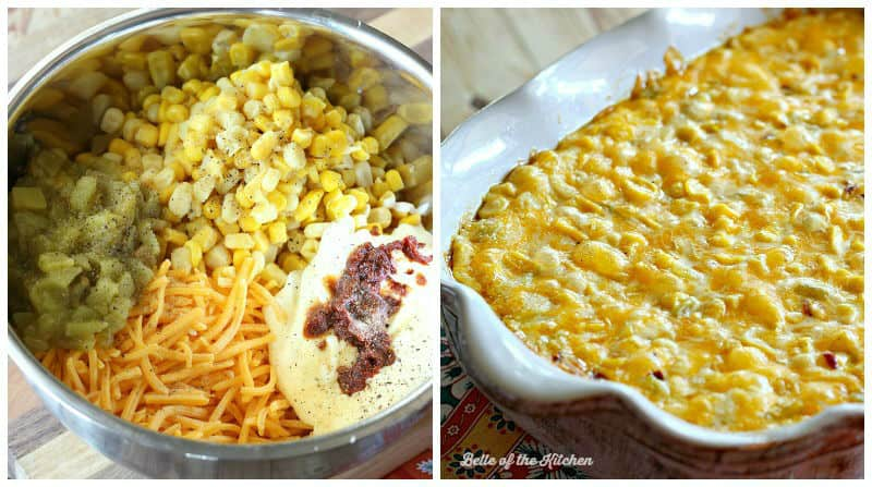 Cheesy Hot Corn Dip | Belle of the Kitchen
