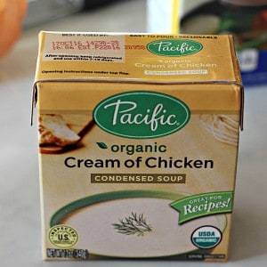 Pacific foods cream of chicken soup box