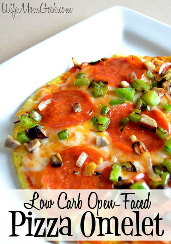 Pizza Omelet from Wife Mom Geek featured on Belle of the Kitchen