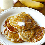 A plate of banana pancakes