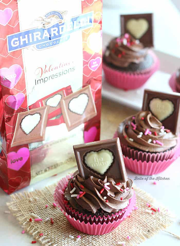 Buttermilk Chocolate Cupcakes with Whipped Ganache Frosting: Moist ...