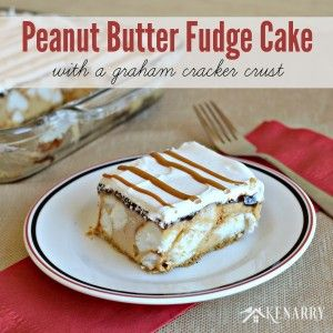 Peanut Butter Fudge Cake with a Graham Cracker Crust - Kenarry: Ideas for the Home